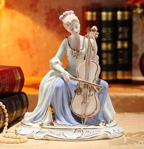 ERH Adornos Estatuas Decoraciones Escultura de estatuilla Tocando la guitarra moderna de...