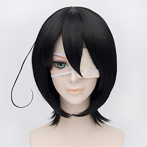LanTing Another Misaki Mei Black Short Styled Woman Cosplay Party Fashion Anime Wig
