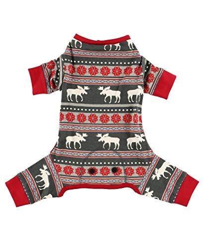 LazyOne Flapjacks, One-Piece Dog Sweater, Matching Family Pajamas for Dogs, Moose, Animal (Small)