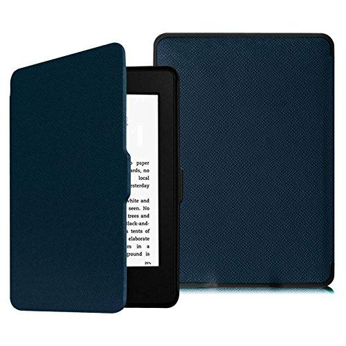 Fintie Hülle für Kindle Paperwhite (Modelle bis 2017) - Die dünnste und leichteste Schutzhülle mit Auto Sleep/Wake (Nicht GEEIGNET für wasserfest Kindle Paperwhite 10. Generation), Marineblau