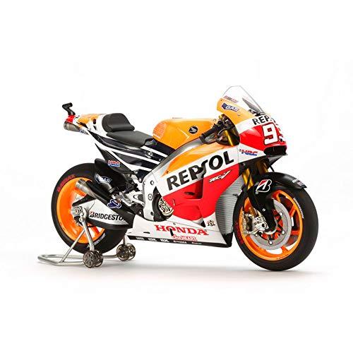 TAMIYA 1:12 Repsol Honda RC213V '14 - hochwertiger Bausatz - hohe Passgenauigkeit - Motorrad Modell - Bike - Modellbau - Motorcycle - Fahrzeug - zum selber zusammenbauen - unlackiert - 14130