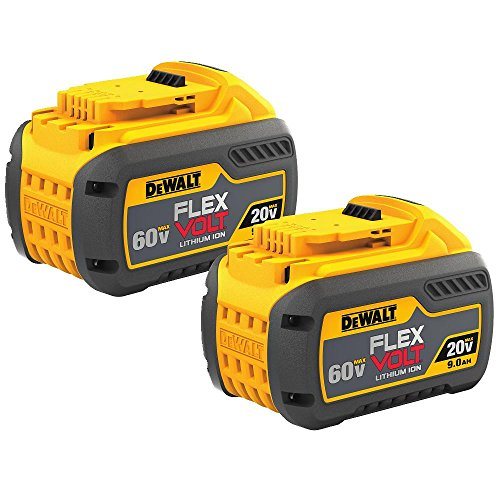 DEWALT FLEXVOLT 20V/60V MAX Batteries, 9.0-Ah, 2-Pack (DCB609-2)
