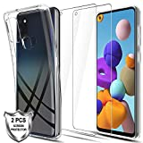 LK Case for Samsung Galaxy A21s + [2 x Tempered Glass