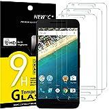 NEW'C 3 Stück, Schutzfolie Panzerglas für LG Google Nexus 5X, Frei von Kratzern, 9H Festigkeit, HD Bildschirmschutzfolie, 0.33mm Ultra-klar, Ultrawiderstandsfähig