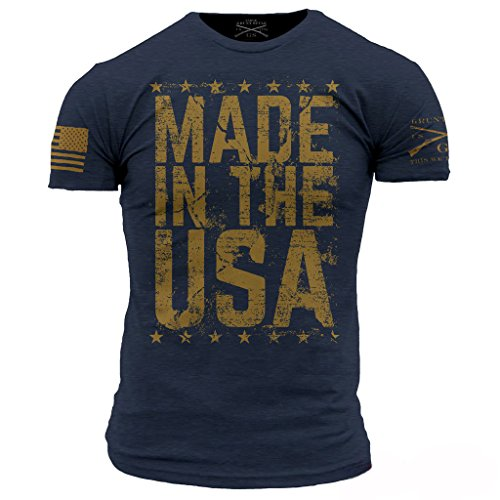 Grunt Style Made in The USA Men's T-Shirt, Color Navy, Size Large