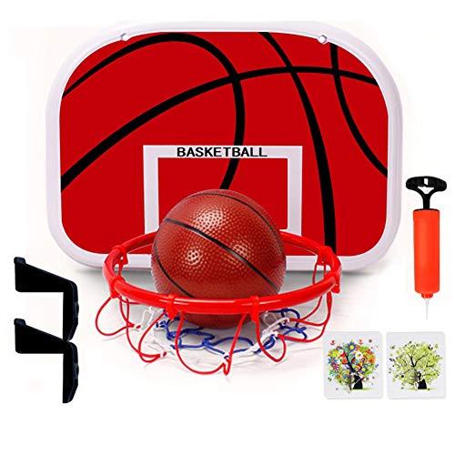 WWMH Tablero Baloncesto,(Dos Piezas) Mini de Aro de Baloncesto de Interior,Soporte de Pared,Baloncesto para Adultos,Montaje en Pared Canasta,NiñOs,Adultos,RelajacióN en La Oficina