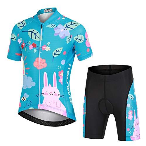 YFPICO - Radsport-Anzüge für Mädchen in Blaugrün, Größe 104/110