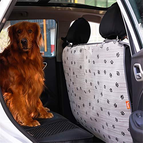QCWN Huisdier Barrier Net, Voertuig Honden Backseat Barrier Mesh, Obstacle Hond Auto Hek Mesh Huisdier Isolatie Trap, Universele Fit En Eenvoudige Installatie Overal, 106 x 73 cm, Beige