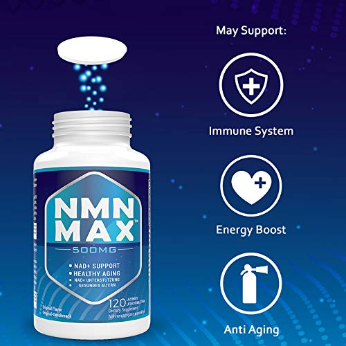 51UhvVkNImL. SL500  - NMN 500mg Sublingual, NAD+ Booster Supplements, Fast-Acting NMN Nicotinamide Mononucleotide,Boost NAD Levels for Anti-Aging, Energy supplement, Cellular Repair & Healthy (1 Pack 120 Lozenges)