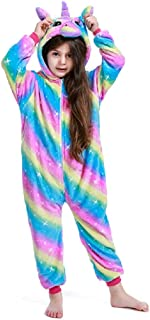 Kids Unicorn Onesie Pajamas,One Piece Children Cosplay Animal Costume Halloween Sleepwear for Girls and Boys Gift