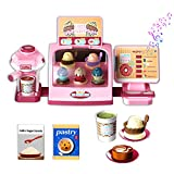 JUMEI Kids Play Coffee Shop Kitchen Toys,Ice...