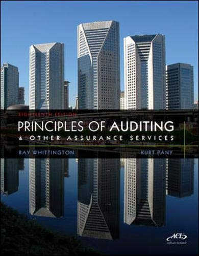 Principles of Auditing & Other Assurance Services