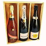 Mix Champagne Rosé - Veuve Clicquot/Moet & Chandon/Mumm - En caja de madera