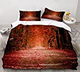 2/3 Piece Set of Beautiful Scenery Bedding Set 3D Printing Duvet Cover Cartoon Bed Cover Cover Home Funny Bed Quilt Cover 220x240cm A