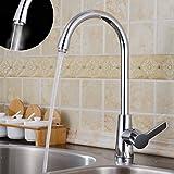 Auralum 360°monocomando cucina rubinetto miscelatore lavandini vanità rubinetti con canna alta cascata lavabo rubinetto da bacino,in ottone cromato rubinetto da bagno,tipo U