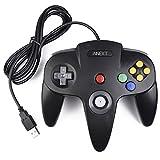 iNNEXT - Mando retro para N64 N64 Classic USB Controlador Gamepad Joystick, Controlador de Juego para N64 System Raspberry Pi/Windows/Mac/Linux, color negro