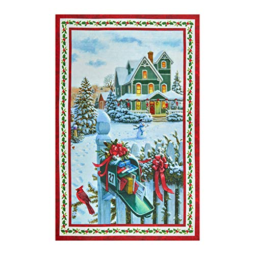 Northcott Xmas Mail Delivery Panel Cotton Fabric 24 X 44 DP22873-24