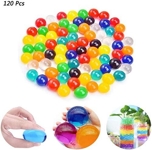Alphahsjaz - Bolas de gel de agua, tamaño grande, de cristal, de gel de tierra, expandible, no tóxica, para plantas de hogar, decoración de bodas, 120 Pcs