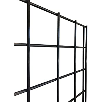 Grid Panel for Retail Display – Perfect Metal Grid for Any Retail Display, 2' Width x 4' Height, 3 Grids Per Carton (Black)