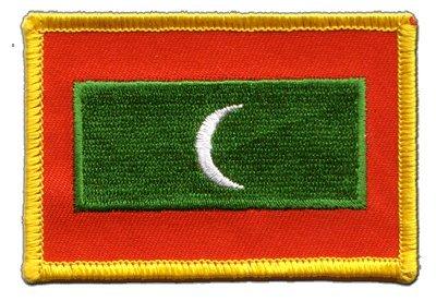 Aufnäher Patch Flagge Malediven - 8 x 6 cm