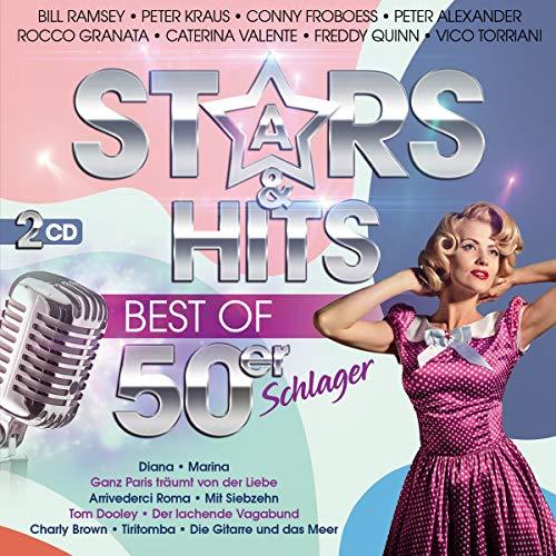 Stars & Hits; Best of 50er Schlager incl. Diana; Marina; Ganz Paris träumt von der Liebe; Arrivederci Roma; Mit Siebzehn; Tom Dooley; Tiritomba; Der lachende Vagabund; Die Gitarre und das Meer