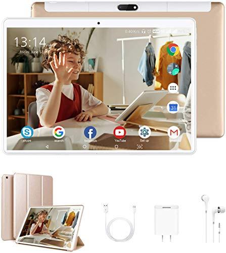 Tablet 10 Pollici con Wifi Offerte, RAM da 4GB 64GB ROM 128GB 4G Tablet PC Offerte Android 9.0 Quad-Core1.5 GHz Dual SIM DUODUOGO Table PC Offerta Del Giorno con Netflix OTG(P6 G)