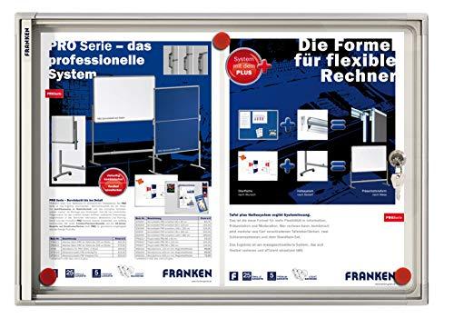 Franken FSA2 Flachschaukasten 2 x DIN A4, Metalloberfläche 51 x 37 x 3 cm