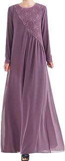 SouqgreenHOT SALE Women Dress,Muslim Women Kaftan Islamic Maxi Dress Long Sleeve Arab Jilbab Abaya Clothing