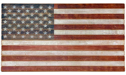American Echoes Vintage United States Flag Wall Art Authentic 13 Stripes 50 Stars US - Handcrafted Patriotic Wall Décor Made in USA (42