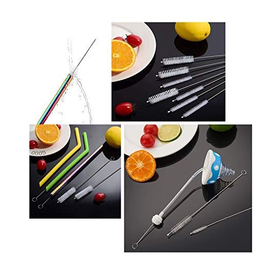 Straw Brush, Nylon Pipe Tube Cleaner 8.2-ihch X 2/5-inch set of 10