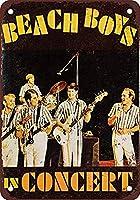 1966 Beach Boys 注意看板メタル安全標識注意マー表示パネル金属板のブリキ看板情報サイントイレ公共場所駐車ペット誕生日新年クリスマスパーティーギフト