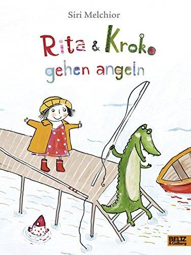 Rita und Kroko gehen angeln: Vierfarbiges Bilderbuch