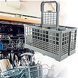 Rainai - Cesta Universal para Cubiertos de lavavajillas (240 mm x 140 mm x 120 mm) con Base Reforzada, Compatible con Kenmore, Whirlpool, Bosch, Maytag, KitchenAid, Maytag, Samsung, GE y más Honesto