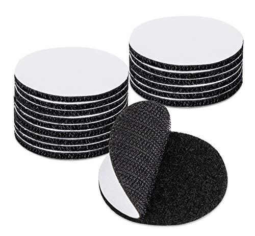 Anstore Klettband Selbstklebend Extra Stark, 20 Stück 50mm Doppelseitig Klettpunkte Klettverschluss Selbstklebendes, aus Polyester und reißfestem Nylon