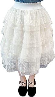 COCO1YA(ココイチヤ) タイトスカート 子供 女の子 春秋着 プリーツスカート メッシュ 綺麗 100-140cm カジュアル キッズ 女児