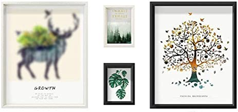 GJNVBDZSF Molduras para fotos, molduras de madeira, conjunto de 4 peças, colagem familiar, combinação de decoração para pe...