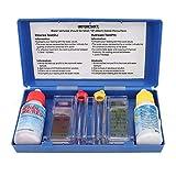 Kit de prueba de pH de piscina, kit de prueba de cloro de pH Caja de prueba de calidad del agua Accesorios para piscina, caja de prueba de pH