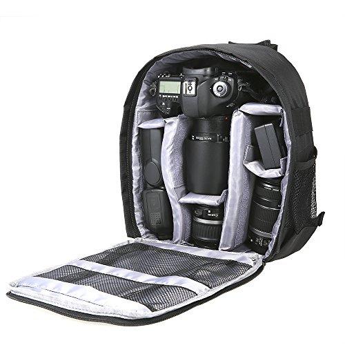Docooler Zaino multifunzionale traspirante e impermeabile, adatto per fotocamera digitale DSLR e per il tempo libero