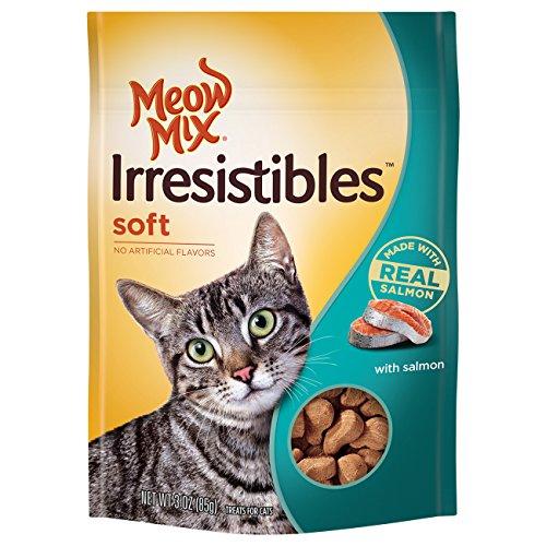 Meow Mix Irresistibles Soft Cat Treats, Salmon, 3 Ounces