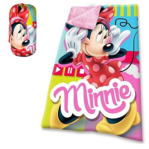 Kids Euroswan Saco De Dormir con Diseño Minnie, Poliéster, Rosa, 16x23x36 cm