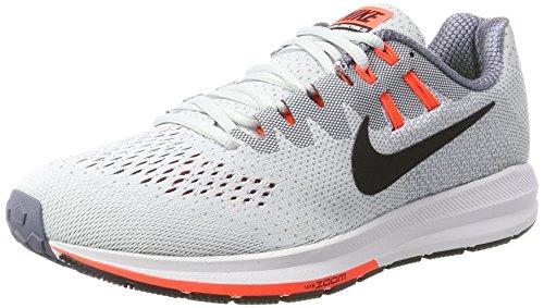 Nike Air Zoom Structure 20, Zapatillas de Running Hombre, Gris (Pure Platinum/Black-lt Carbon-Total Crim), 43 EU