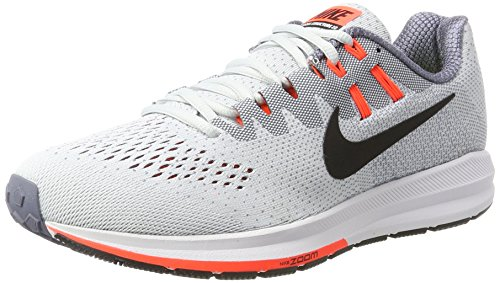 NIKE Air Zoom Structure 20, Chaussures de Running Compétition Homme, Gris (Schwarz/Weiß-Cool Grau), 42 EU