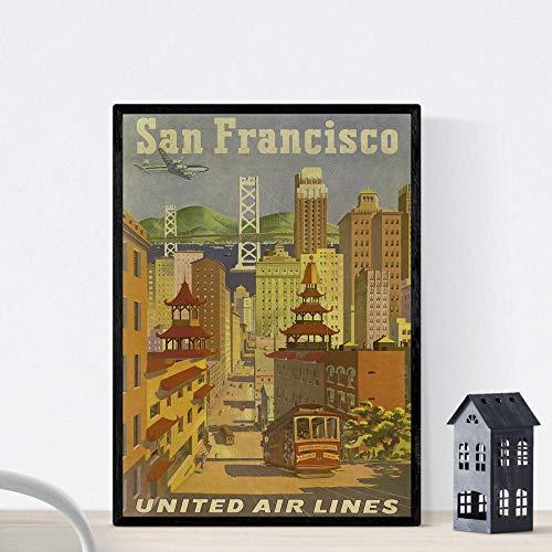 Nacnic Vintage Poster Vintage Poster America. San Francisco City. A4 Size