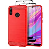 Teayoha Case for Huawei Y7 2019, with Tempered Glass Screen