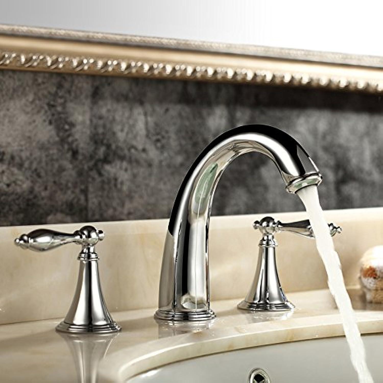 LHbox Bad Armatur in Bad für Waschbecken Waschtisch Wasserhahn Waschtischarmatur Die Wasserhhne Drei Stück, 15.