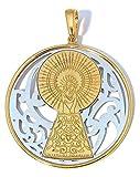 Medalla Virgen del Pilar en Plata de Ley Cubierta de Oro de 18kt®