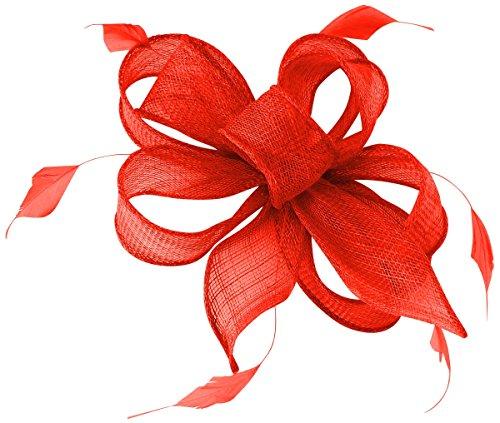 Hawkins Collection Bibi avec plumes et peigne - rouge - Taille unique