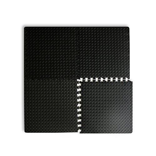 casa pura® Fitnessmatte Leaf | schadstofffrei | 4 Steckquadrate à 60 x 60 cm | hautfreundlicher Eva-Schaum | zum Auslegen von Fitnessräumen