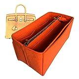 Birkin 35 Organizador, bolsa de fieltro, bolsa de fieltro, protector para organizar el bolso (estilo B), marrón oscuro (Marrón) - JKS-B-57-Dark-Brown
