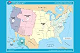 USA OFICIAL standard TIME ZONE map poster 24X36 educational user-friendly